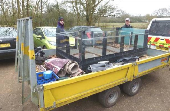 Tern raft ready for launch at Moor Green Lakes