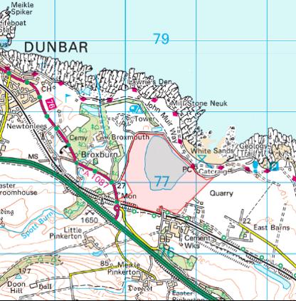 Whitesands Quarry map